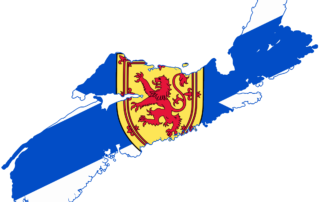 Nova Scotia flag map