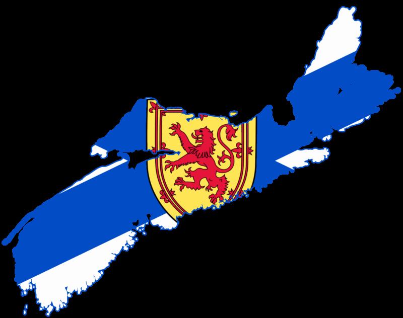 Nova Scotia flag map