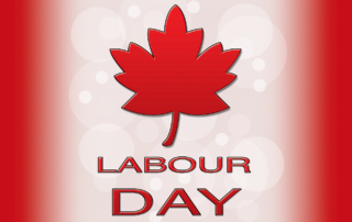 Labour Day Canadian flag