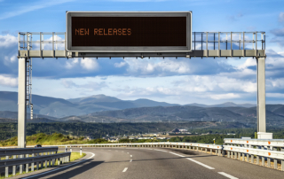 New Releases road sign